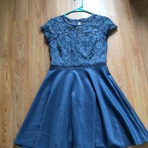 Blue/purple toned dress